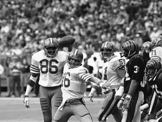 San Francisco 49ers quarterback Joe Montana.