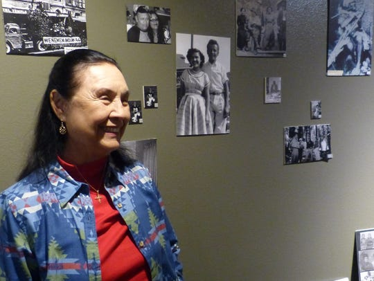 Victoria Smith, a volunteer at the Wintu Cultural Museum