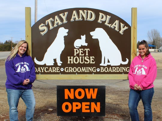 Sherry Slife and Cassandra Running opened Stay and Play Pet House, a grooming and day care center for pets, at 3792 Jackson St. in February.