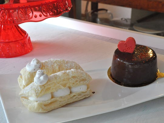 Examples of desserts just for two available at Milk and Honey Bakery, Venue and Bistro.