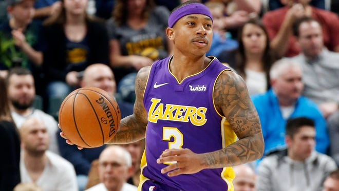 Isaiah Thomas played 32 combined games for the Cavaliers and Lakers this past season.