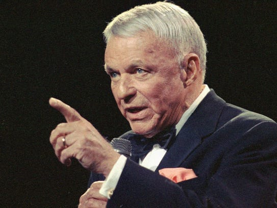 In this 1990 file photo, Frank Sinatra, is shown in