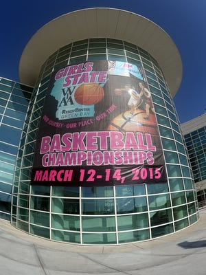 The Resch Center in Ashwaubenon will host the WIAA Girls State Basketball Tournament from Thursday through Saturday.