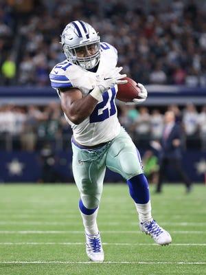 Cowboys running back Ezekiel Elliott is leading the NFL in rushing yards.