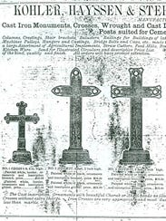 Kohler, Hayssen and Stehn 1878 catalog page featuring