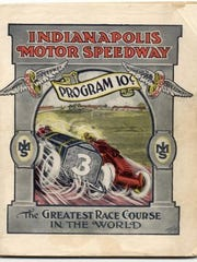 Race Program from the first year running of the Indy 500, 1911.