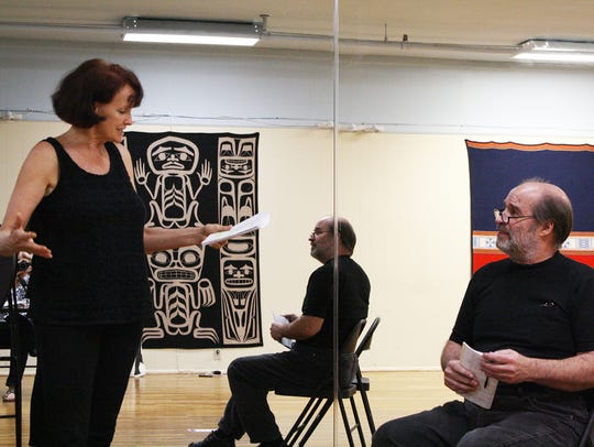 Holly Butler and Alan Lee rehearse for TWTP's 10th