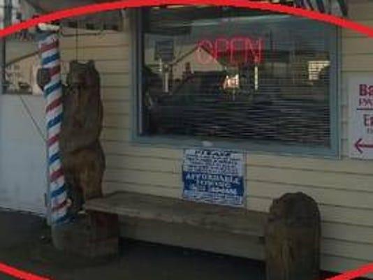 Larry's Family Barber bear missing