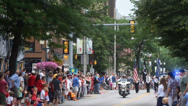 Mayor's 4th of July Family Parade in downtown Sioux Falls on Monday.