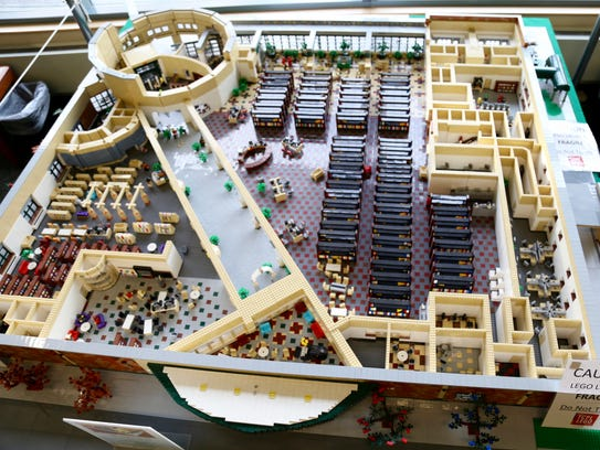 A Lego Replica of the Tompkins County Public Library,