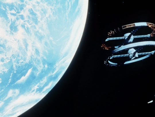 "A scene from Stanley Kubrick's 1968 film, ""2001: A Space Odyssey,"""