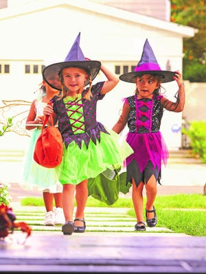 Trick-or-treat times for area towns.