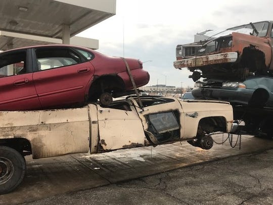 A 39-year-old trucker was cited for pulling this unsafe