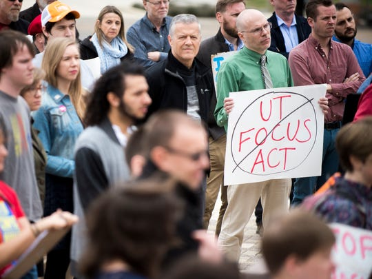 University of Tennessee faculty and staff gather at