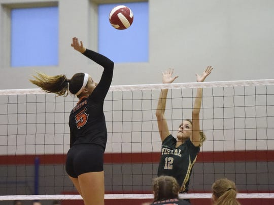Catherine Brennan of Union-Endicott goes up for a kill