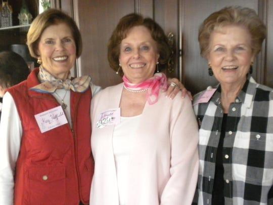 Kay Hartfield, left to right, Glenell Johnson, and Betty McDonald.