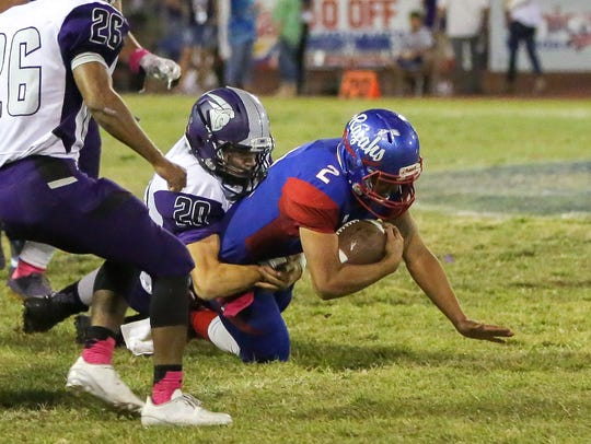 Jose Perez stopped for a gain of 1 yard. Shadow Hills