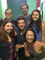 Current members of the Upright Citizens Brigade touring company include Lily Du (bottom row). (from left, middle row) Caitlin Puckett, Lui Vega and Jordan Myrick, and (top row from left) Luke Field and Patrick Keene.
