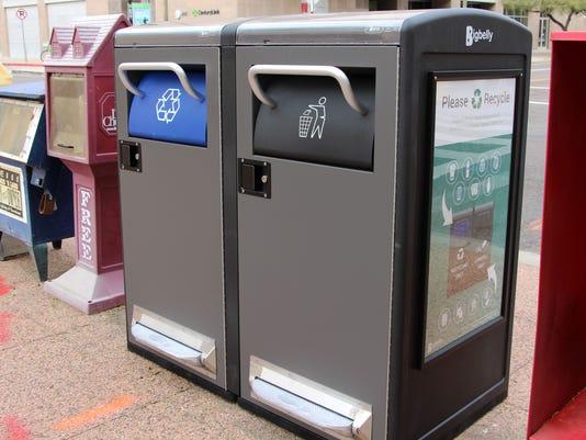 Solar-Powered Trash Cans