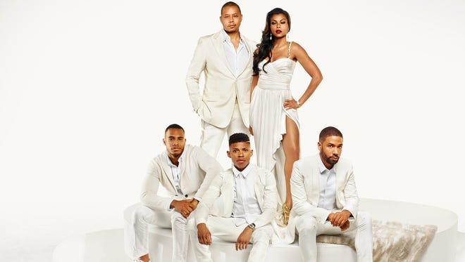From left, 'Empire' cast members Trai Byers, Terrence Howard, Bryshere Gray, Taraji P. Henson  and Jussie Smollett.