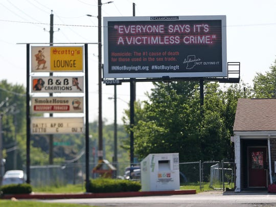 New billboards that address human trafficking are seen