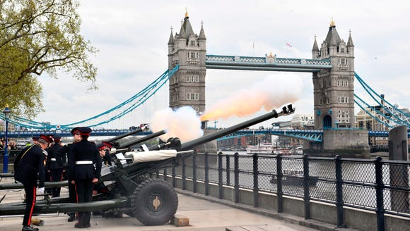 The Honorable Artillery Company fire a 62-gun royal