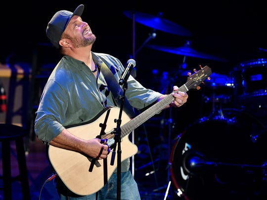 "Garth Brooks performs ""If Tomorrow Never Comes"" during the NSAI 50 Years of Songs concert at the Ryman Auditorium Sept. 20, 2017."