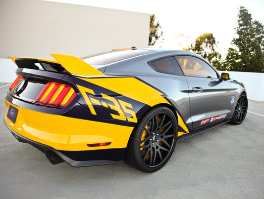 Ford has created a special Mustang to be auctioned off at the EAA experimental aircraft show in Oshkosh, Wis. It honors the F-35 fighter