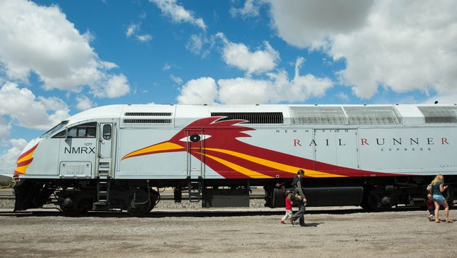New Mexico Rail Runner. The commuter train has not been in Southern New Mexico since 2010.The train and other activites were held at the Las Cruces Railroad Museum part of Railroad Days, Saturday, April 29, 2017.