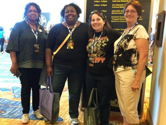 From left: Monica Johnson, 55, left, LaQuinda Johnson,