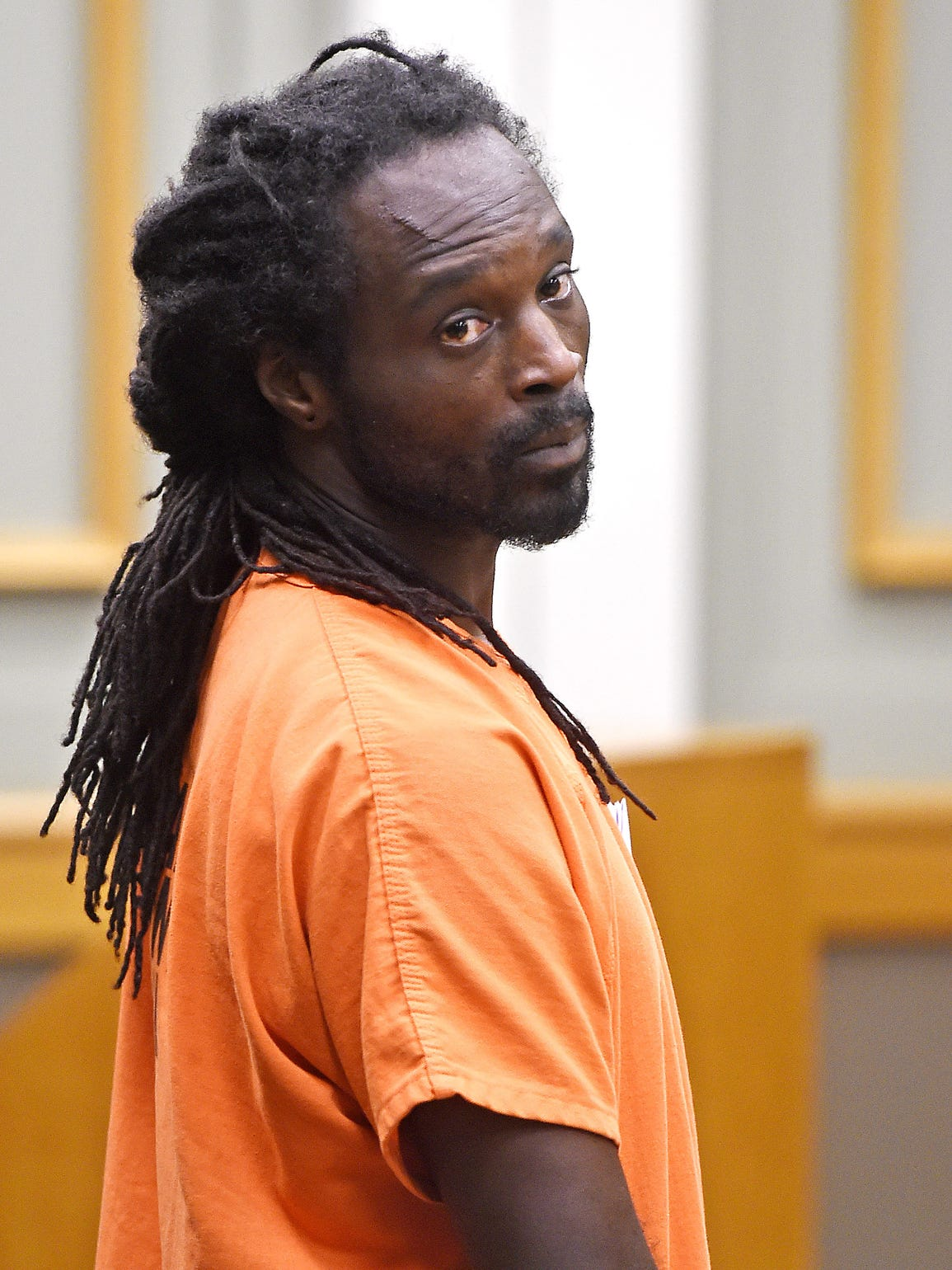Tavarie Williams, a man accused of trafficking a girl from Texas, makes his first court appearance in Williamson County, Tenn., on Aug. 10, 2016.