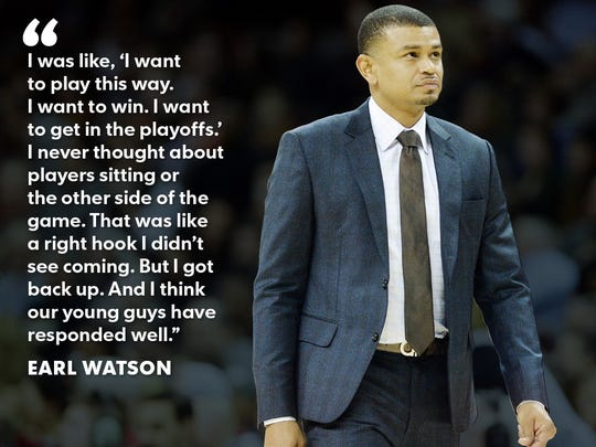 Suns coach Earl Watson was caught off-guard when management decided to shut down some of the team's top players.