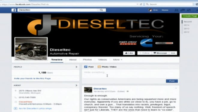 A screengrab from DieselTec Facebook page