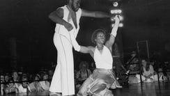 Kennty Johnson and Carole Turner danced their way to