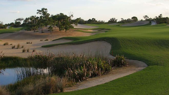 "The eighth annual LPGA/Symetra Pro-Am — ""The Mary Jo"" — will be held Saturday, Oct. 28 at The Moorings at Hawk's Nest in Vero Beach. This shot looks up the No. 18 fairway at Hawk's Nest."