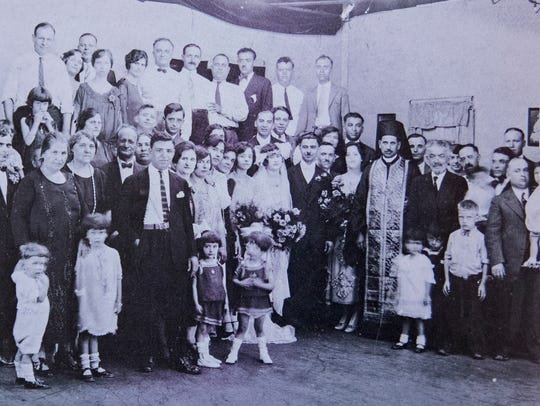 The occasion of the mid 1920s wedding of Mr. and Mrs.