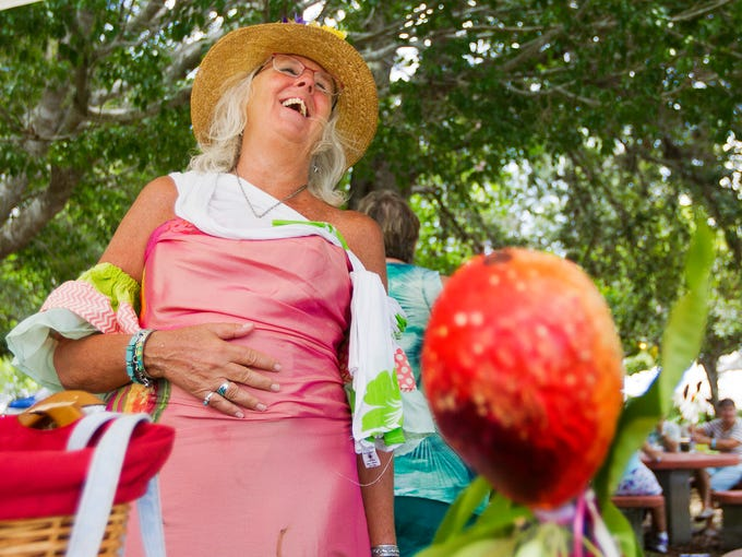 Joanna Buchard was named the mango queen Saturday at