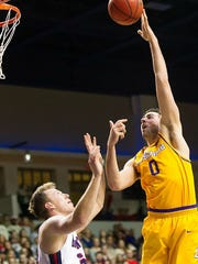 Lipscomb's Rob Marberry has scored a total of 53 points in the last two games.