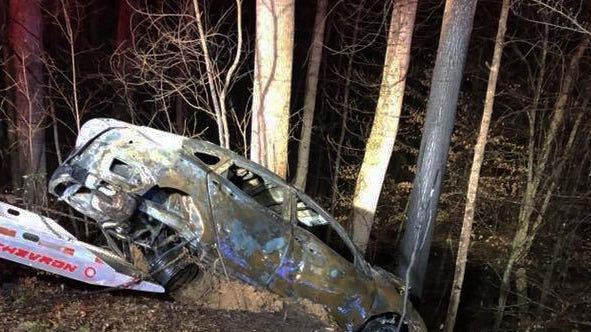 The Maury County Fire Department said one person died early Tuesday morning in a car fire on Hampshire Pike in rural Maury County.