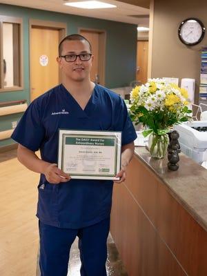 David Huerta, BSN, RN, is the newest DAISY Award winner at AdventHealth Hendersonville.