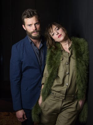"""Before shooting sex scenes, Dornan and Johnson had a pep talk. """"Can you imagine how many sexual innuendos happen on a set like that? It's hard not find humor in it,"""" says Dornan."""
