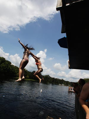 Diving off the observation deck at Wakulla Springs State Park is one of the most popular activities for guests of all ages.
