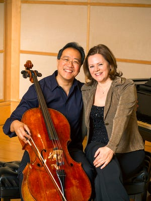 Yo-Yo Ma and Kathryn Stott perform at Center for the Performing Arts in Carmel at 7:30 p.m. on Nov. 18.