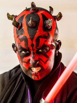 Kirstin Clinton, 25 of Endicott dressed as Darth Maul takes first place in the expert category during RoberCon in Binghamton on Sunday, September 25, 2016. Thomas La Barbera / Correspondent Photo