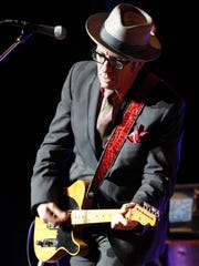 Elvis Costello performing at the Xerox  Rochester International