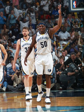 April 29, 2011 -   Memphis Grizzlies forward Zach Randolph