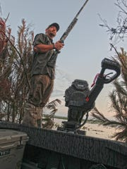 Former Marine, Bucky Soileau guides for his family's Full Strap & Stringer Outfitters and Lodge on Catahoula Lake.