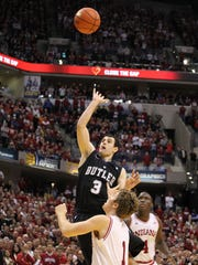 Butler guard Alex Barlow makes the game-winning shot