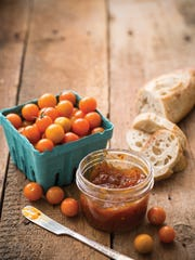 Orange tomato and smoked paprika jam, made by cookbook author and blogger Marisa McClellan.