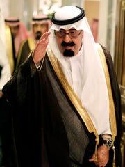 Saudi King Abdullah bin Abd al-Aziz in May 2010 salutes